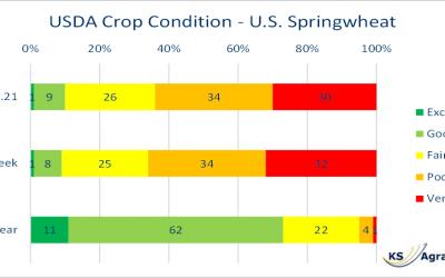 US Weizenerträge trüben sich weiter ein